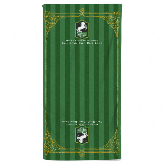 The Prancing Pony Inn Beach Towel Based on Hobbit Lord of the Rings